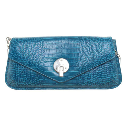 Smythson clutch in blue