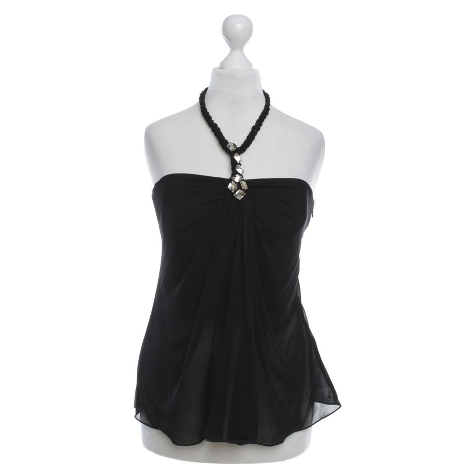 Giorgio Armani Top in black with corset insert