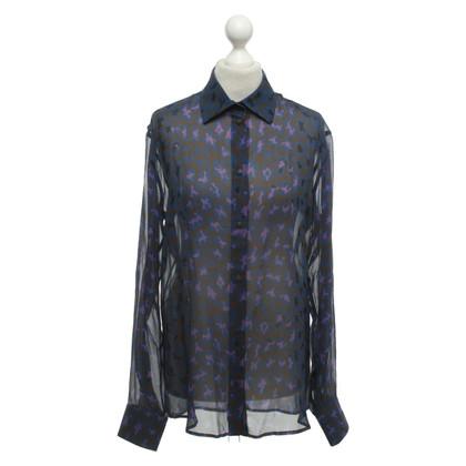 Christopher Kane Zijden blouse met patroon