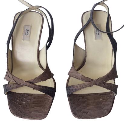 Prada Sandaletten aus Schlangenleder