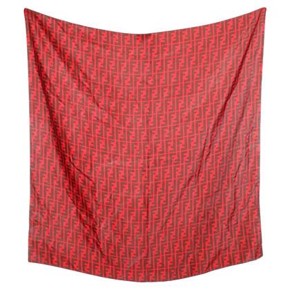 Fendi Panno di seta in rosso