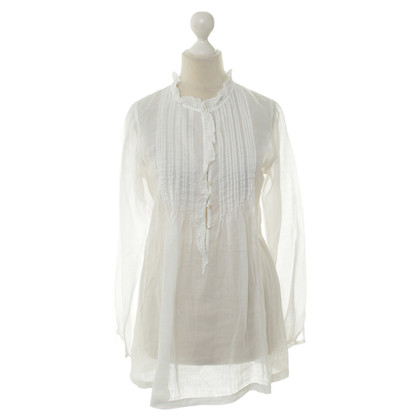 Boss Orange Transparent blouse in white