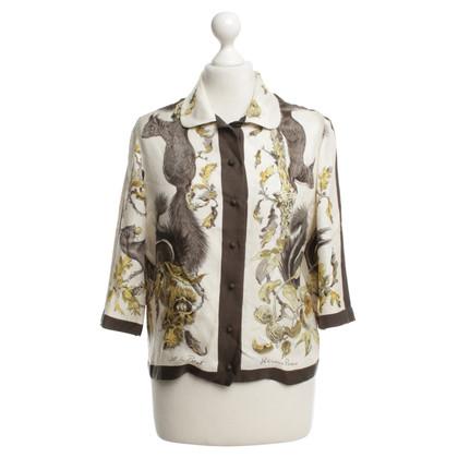 Hermès Silk blouse with pattern
