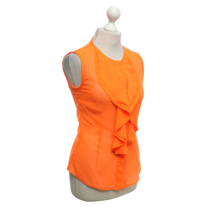 Other Designer Space blouse in neon orange