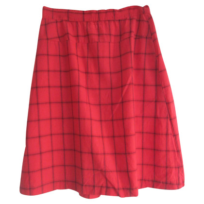 A.P.C. skirt with checked pattern