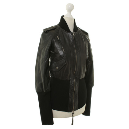 Patrizia Pepe Leather jacket in black