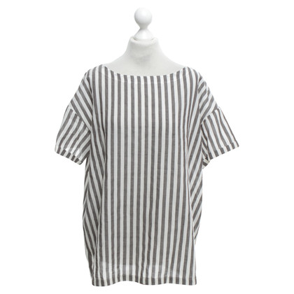 Piu & Piu top with stripe pattern
