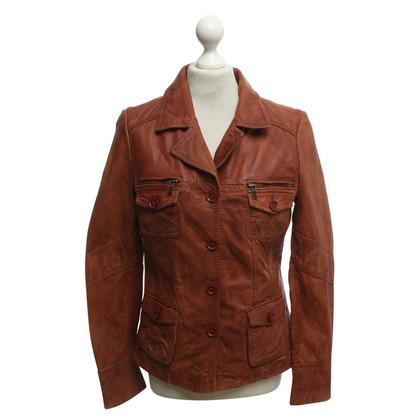 Oakwood Leder-Jacke in Braun