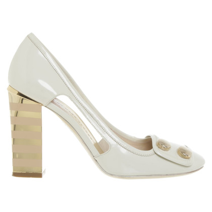 Marc by Marc Jacobs pumps in cream-white