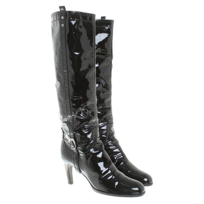 Sergio Rossi Boots patent leather