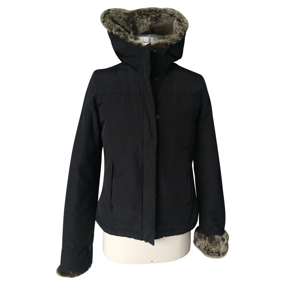 woolrich down jacket with rabbit fur buy second hand. Black Bedroom Furniture Sets. Home Design Ideas