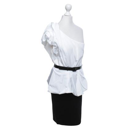 Alice + Olivia Kleid in Schwarz/Weiß