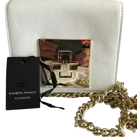 Steckdose Vermarktbaren Verkauf Fabrikverkauf Elisabetta Franchi Handtasche Weiß Spielraum Shop Die Günstigste Online-Verkauf xkMyNE8