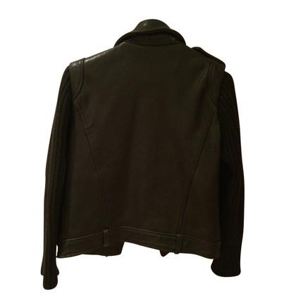 Sandro Black biker leather jacket