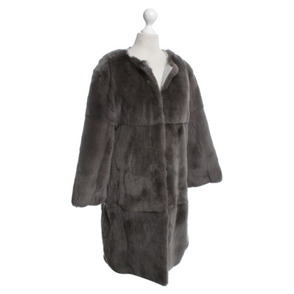 John Galliano Fur coat in grey