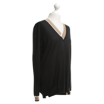 Agnona Knitted sweater in black