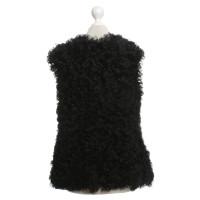 Dolce & Gabbana Lambskin vest in black
