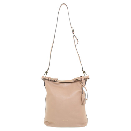 Coccinelle Leather shopper in beige