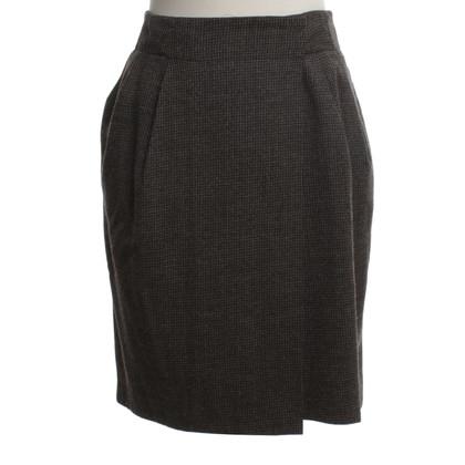 Tara Jarmon Wrap skirt with Vichy pattern