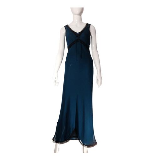 7be6270963fbdb Andere merkenLange zijden jurk van chiffon- Second-handAndere ...