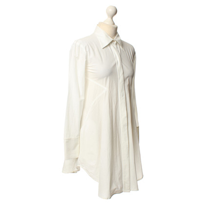 Donna Karan Long blouse in white