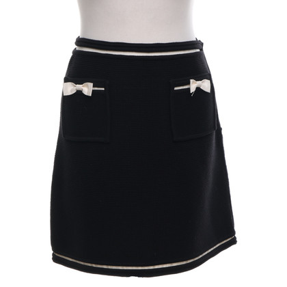 Emanuel Ungaro Knitted skirt in black / cream