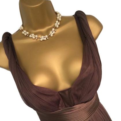 Amanda Wakeley Brown Silk Dress