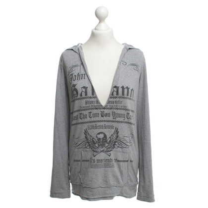John Galliano Cotton pullover in grey