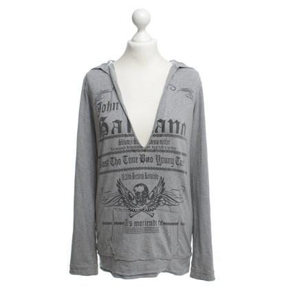 John Galliano Katoen-pullover grijs