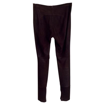 Utzon Pantaloni di pelle stretti
