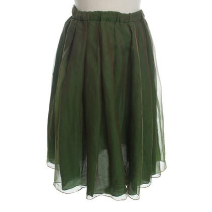 Altre marche Aspesi - gonna in seta verde