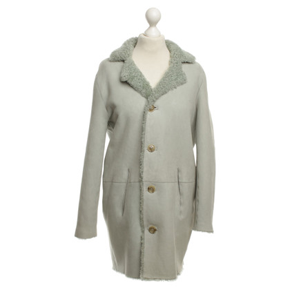 Closed Reversible coat with Sheepskin