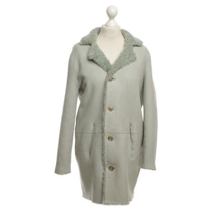 Closed Omkeerbare jas met schapenvacht