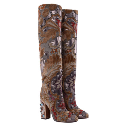 Dolce & Gabbana Stiefel im Barock-Stil