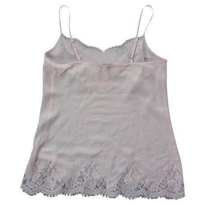 Ermanno Scervino Silk top in pink