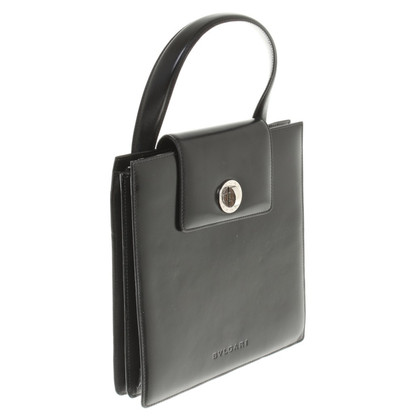 Bulgari Black Purse made of leather