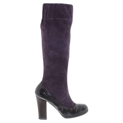 Paule Ka Boots in Purple / zwart