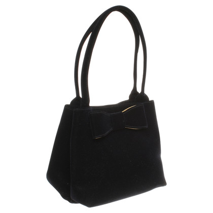 Moschino Velvet bag with loop application