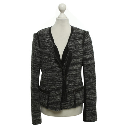 Rebecca Taylor Bouclé jacket in black / white