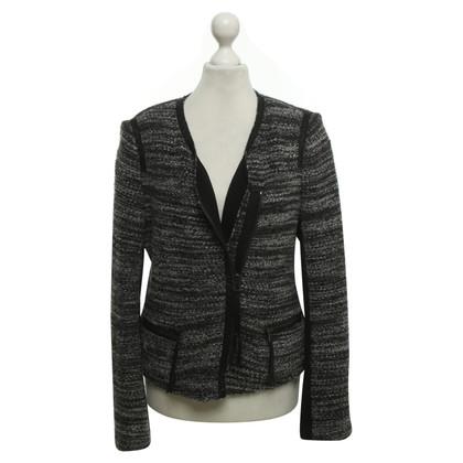 Rebecca Taylor Bouclé-Jacke in Schwarz/Weiß