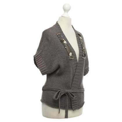 Luisa Cerano Strickjacke in Taupe