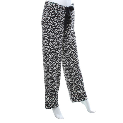 Equipment Silk trousers in black and white