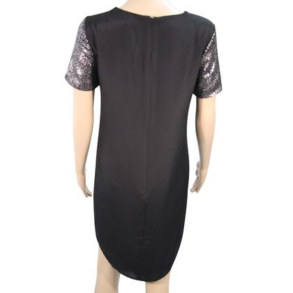 Whistles Sequin dress in black