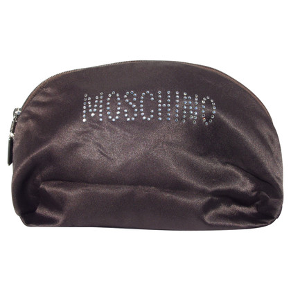 Moschino Pochette Dark Brown with Strass