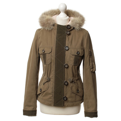 Moschino Cheap and Chic Jacke mit Pelzkapuze