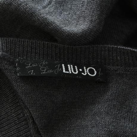 Verkaufen Sind Große Erhalten Authentisch Zu Verkaufen Liu Jo Langarmkleid mit Unterkleid Grau Billig Verkauf Blick Billigster Günstiger Preis Fälschung Günstiger Preis jInHW11w