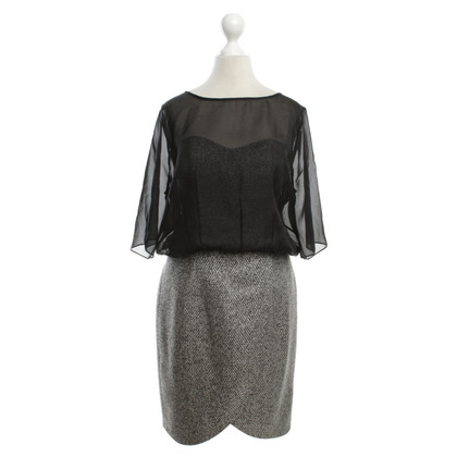 Twenty8Twelve Bouclé dress in black / grey