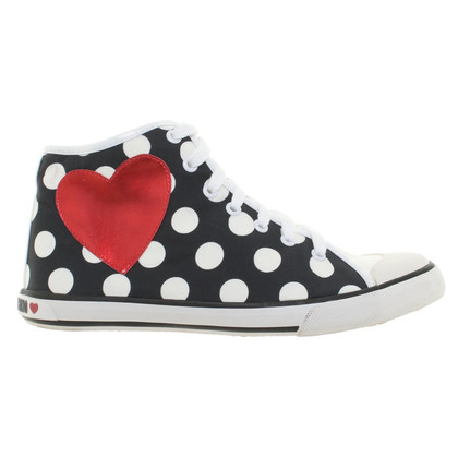 Moschino Love Sneakers in Nero / Bianco