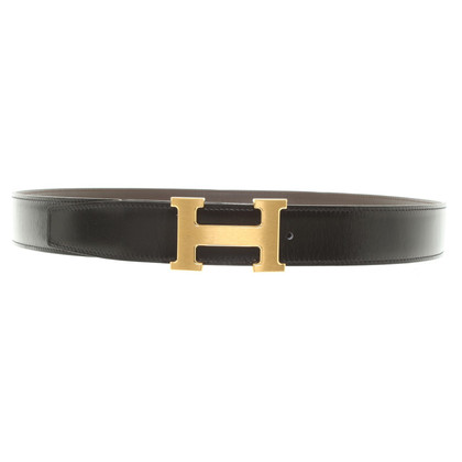 Hermès Belt with gold-colored buckle