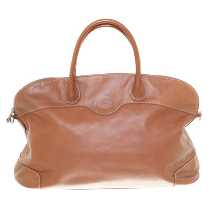 Longchamp Lederhandtasche in Braun